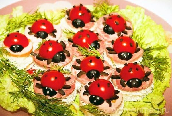 Бутерброды на детский праздник