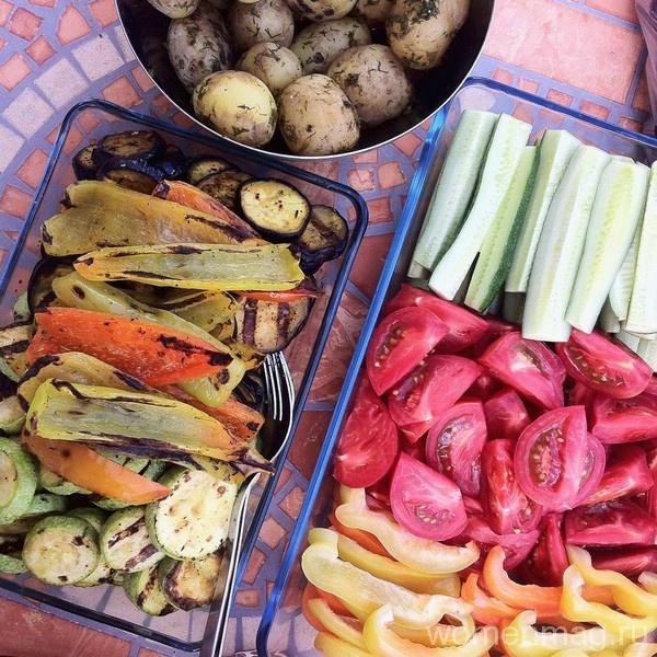 Овощи на пикнике