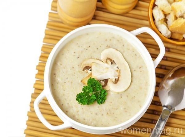 Густой суп с грибами
