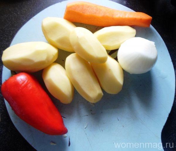 Овощи для щи на бараньей косточке