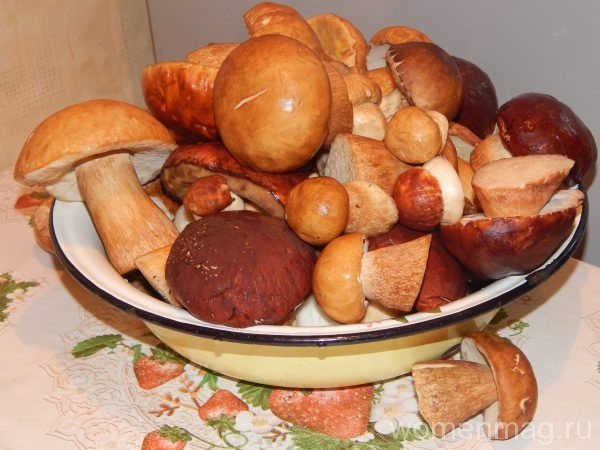 Жареный белый гриб с луком