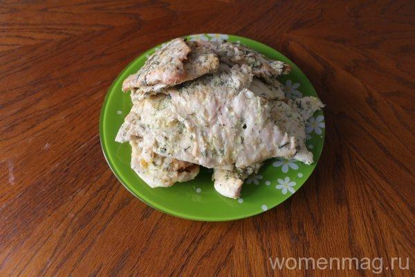 Куриные отбивные в майонезе на сковороде
