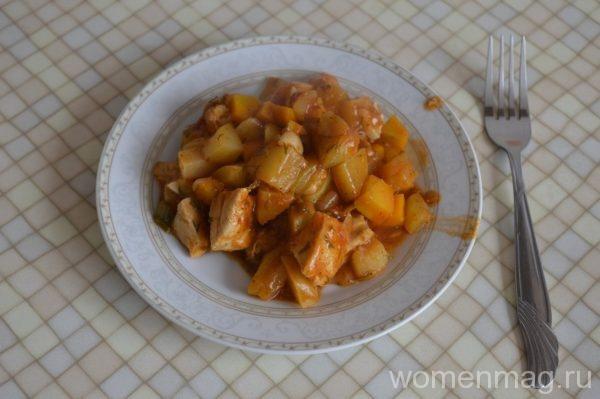Овощное рагу с куриным филе