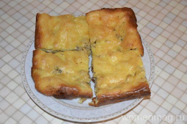 Пирог с консервированной сайрой и картошкой