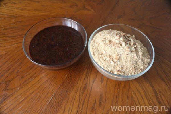 Шоколадная колбаса из печенья и сливочного масла