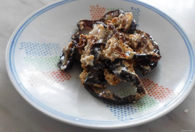 Закуска из баклажанов с майонезом и чесноком