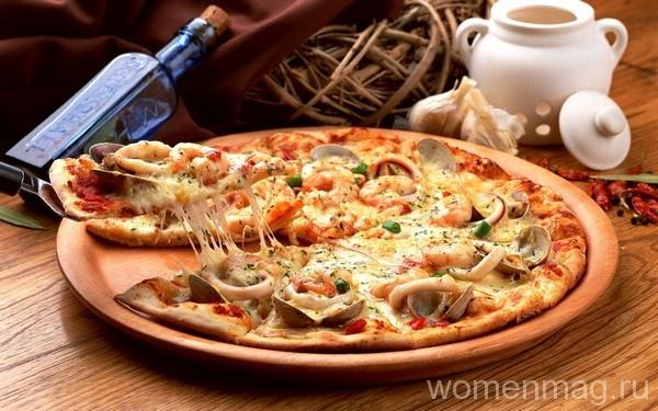 Пицца из морепродуктов в домашних условиях