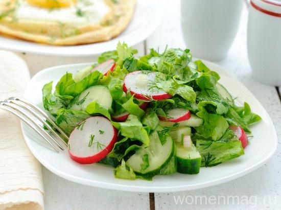 Салат из огурцов