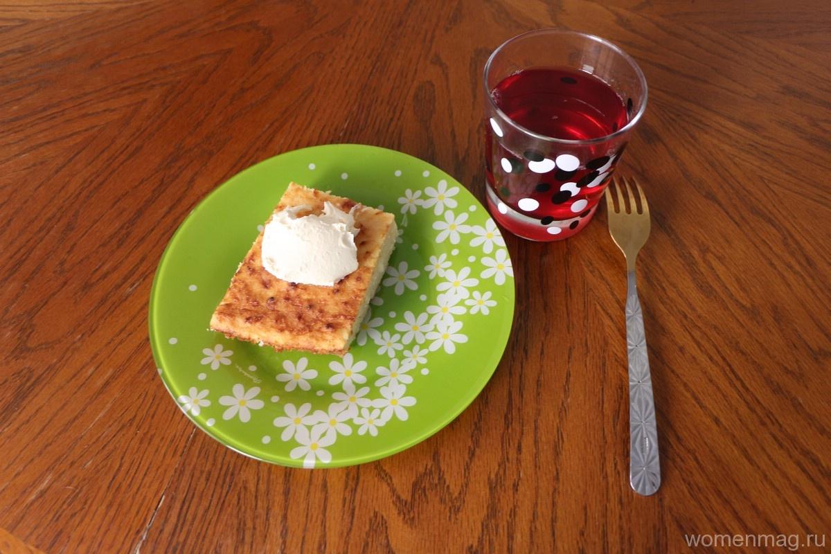 Творожно-яблочная запеканка с манкой в духовке