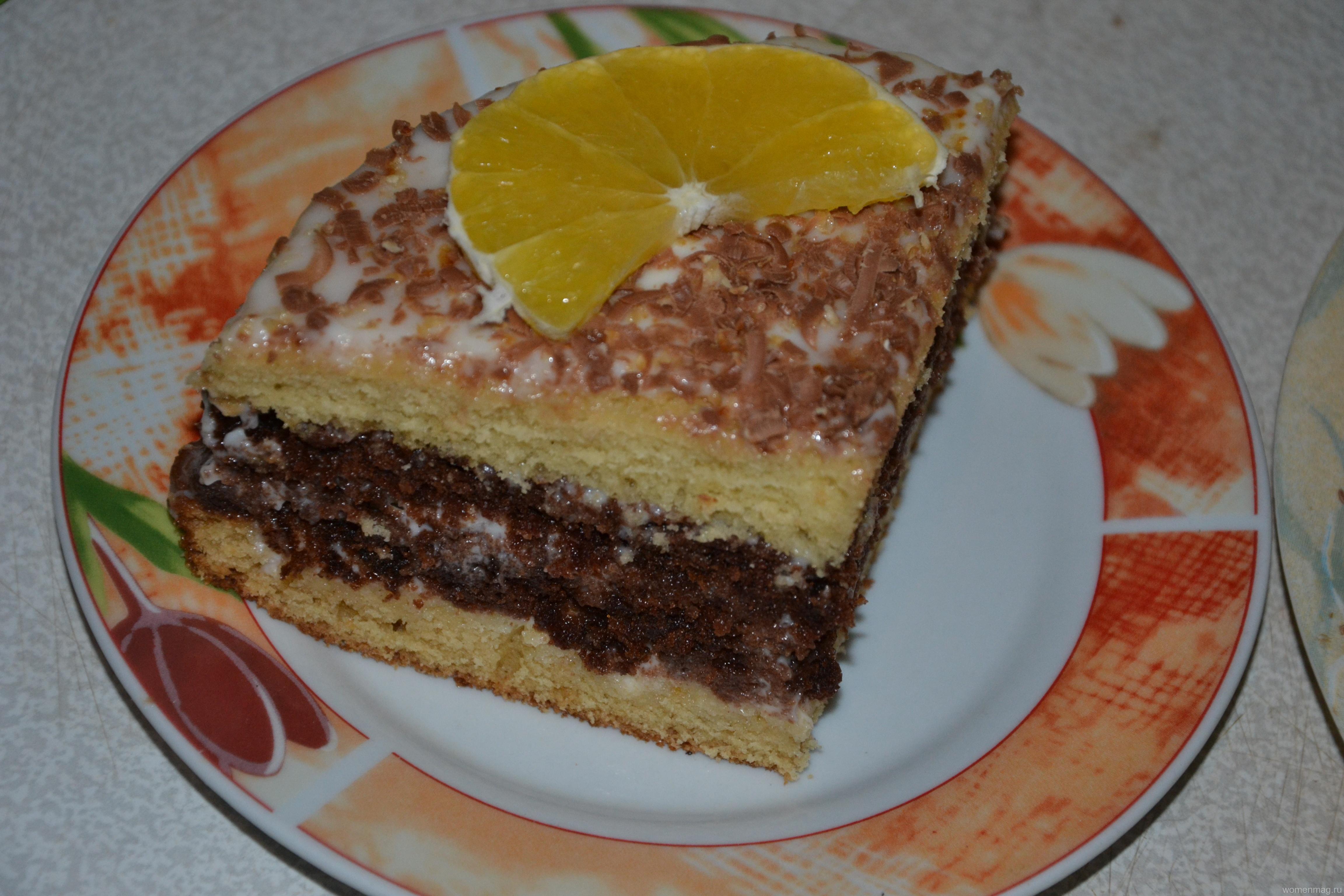 Простой торт на кефире в духовке со сметанным кремом по рецепту свекрови