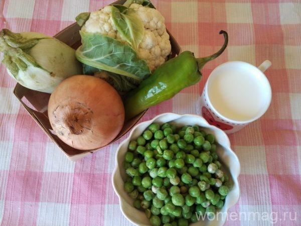 Крем-суп из зеленых овощей