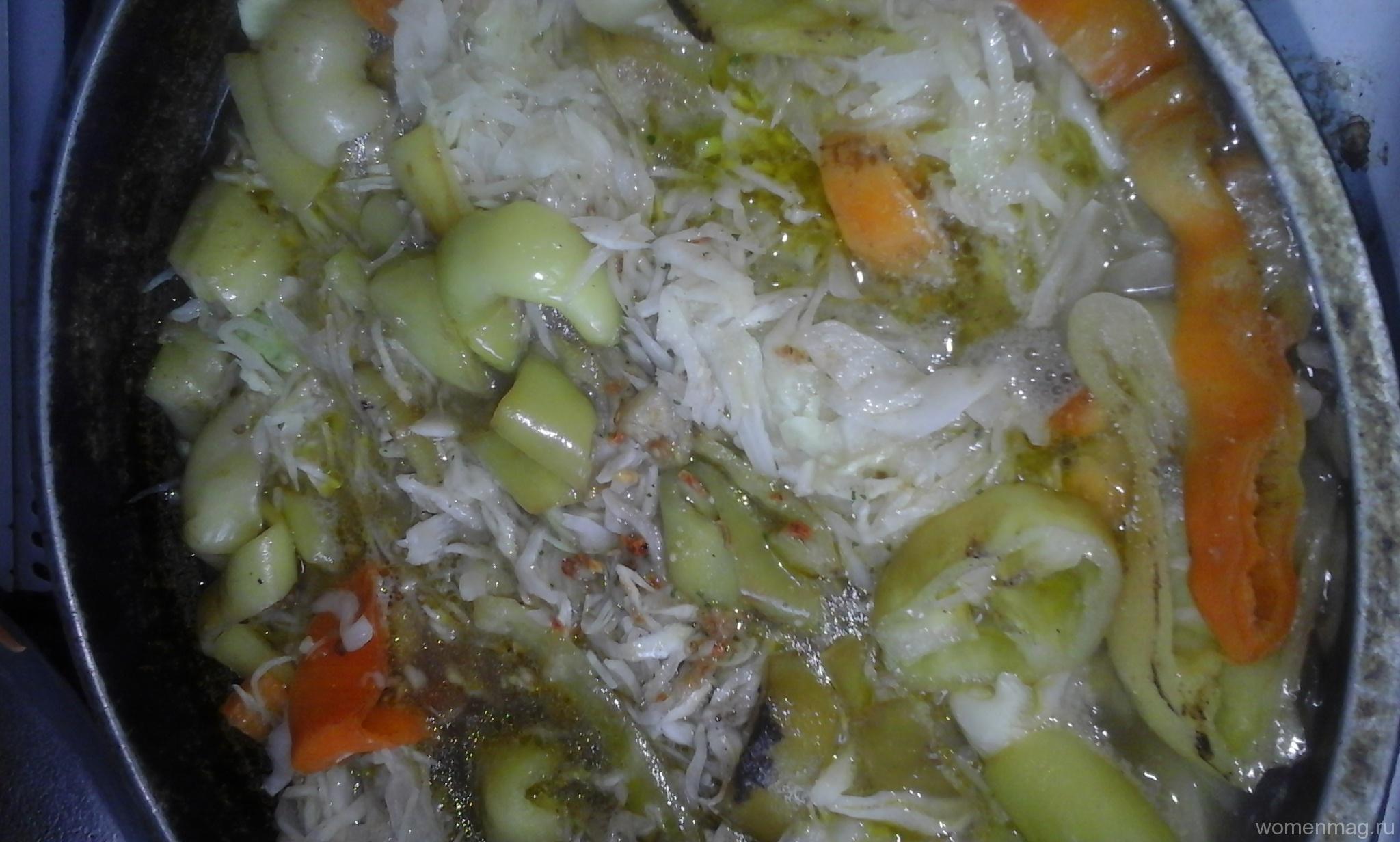 Капуста картошка с мясом рецепт пошагово в духовке