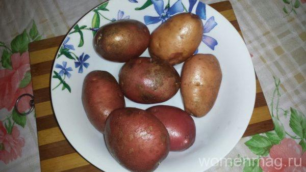 Картофельные кораблики с копченым подчеревком в микроволновке