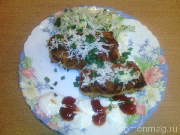 Картофельные котлетки с мясной начинкой