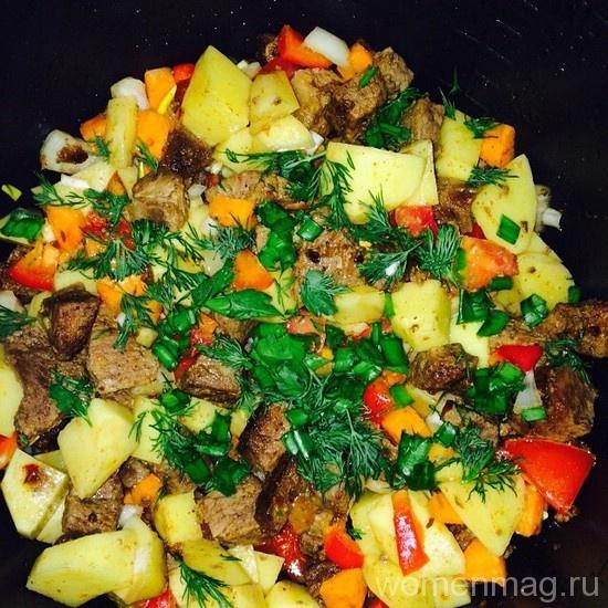 Овощное рагу с картофелем и мясом