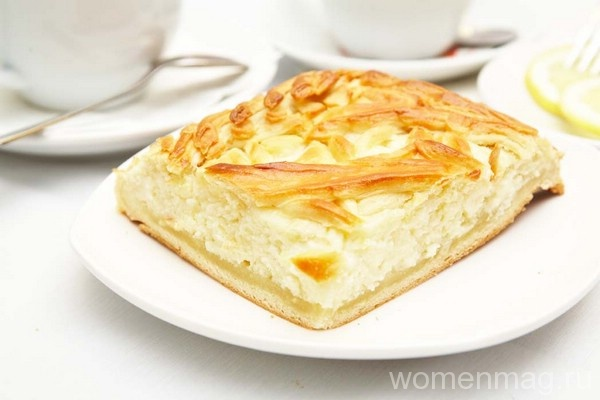 Пирог с творогом на кефире