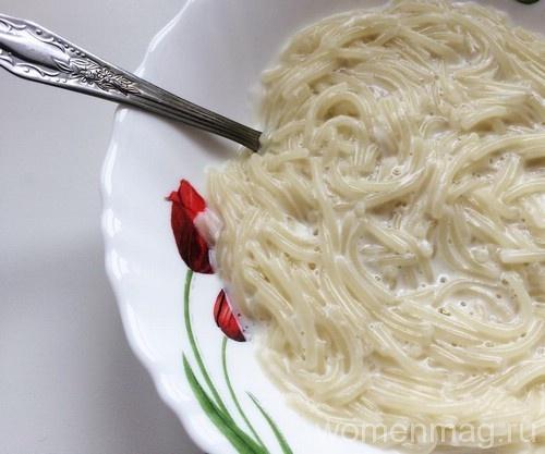Молочный суп с вермишелью для ребёнка