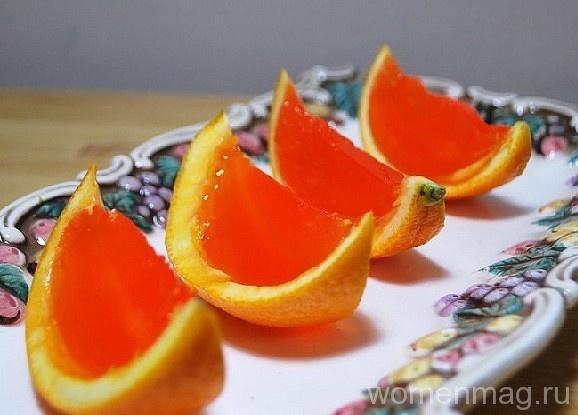 Вишневое желе в апельсиновых корках
