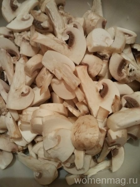 Феттуччине с грибами в сливочном соусе