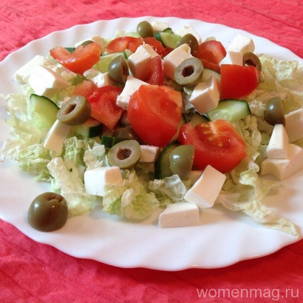рецепт греческого салата с сиртаки рецепт с