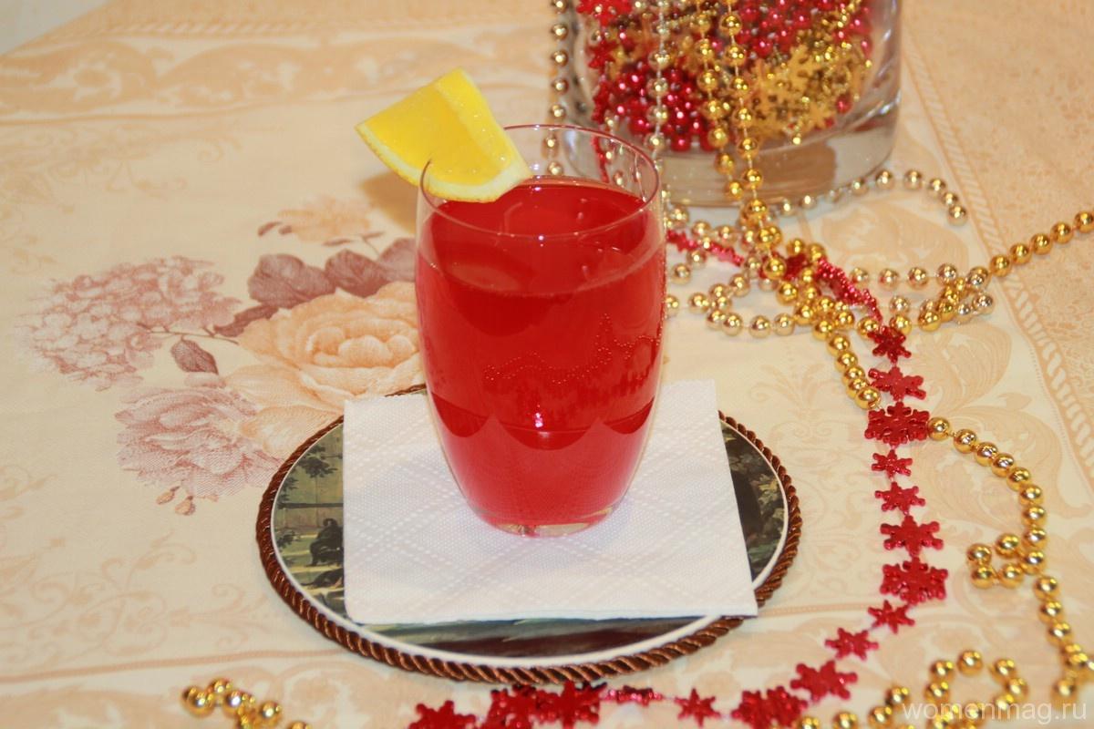 Морс из замороженной клюквы «Новогодний»