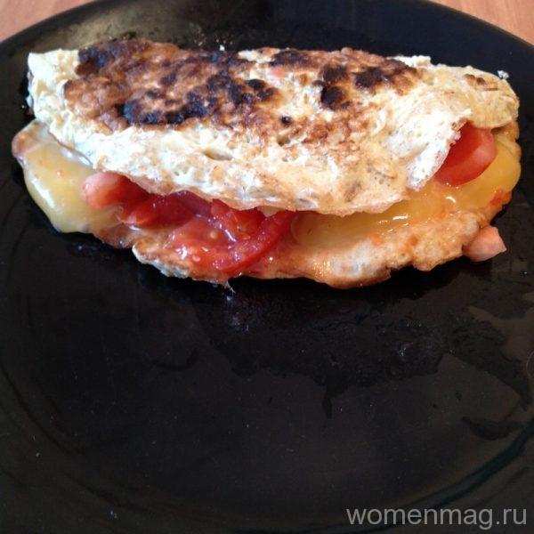 Овсяноблин с сыром и томатом