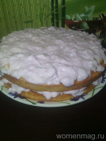 Торт с йогуртовым муссом