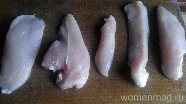 куриная грудка в сметанно горчичном соусе