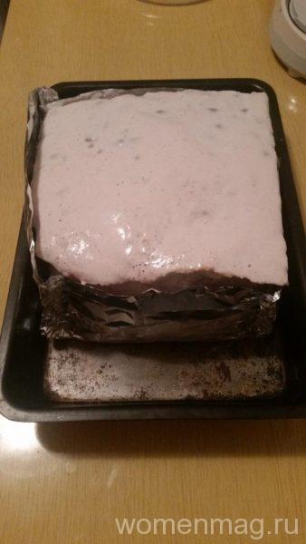 Бисквитный пирог с вишней в духовке