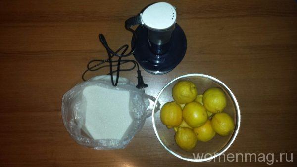 Перетертые лимоны с сахаром
