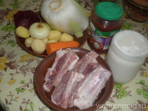 рецепт борща с ребрышками пошаговый рецепт с фото