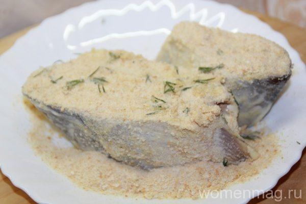Рыба кижуч в духовке в горчичном маринаде со сложным гарниром