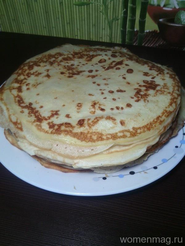 Рецепт блинчики на молоке с мясом рецепт пошагово 6