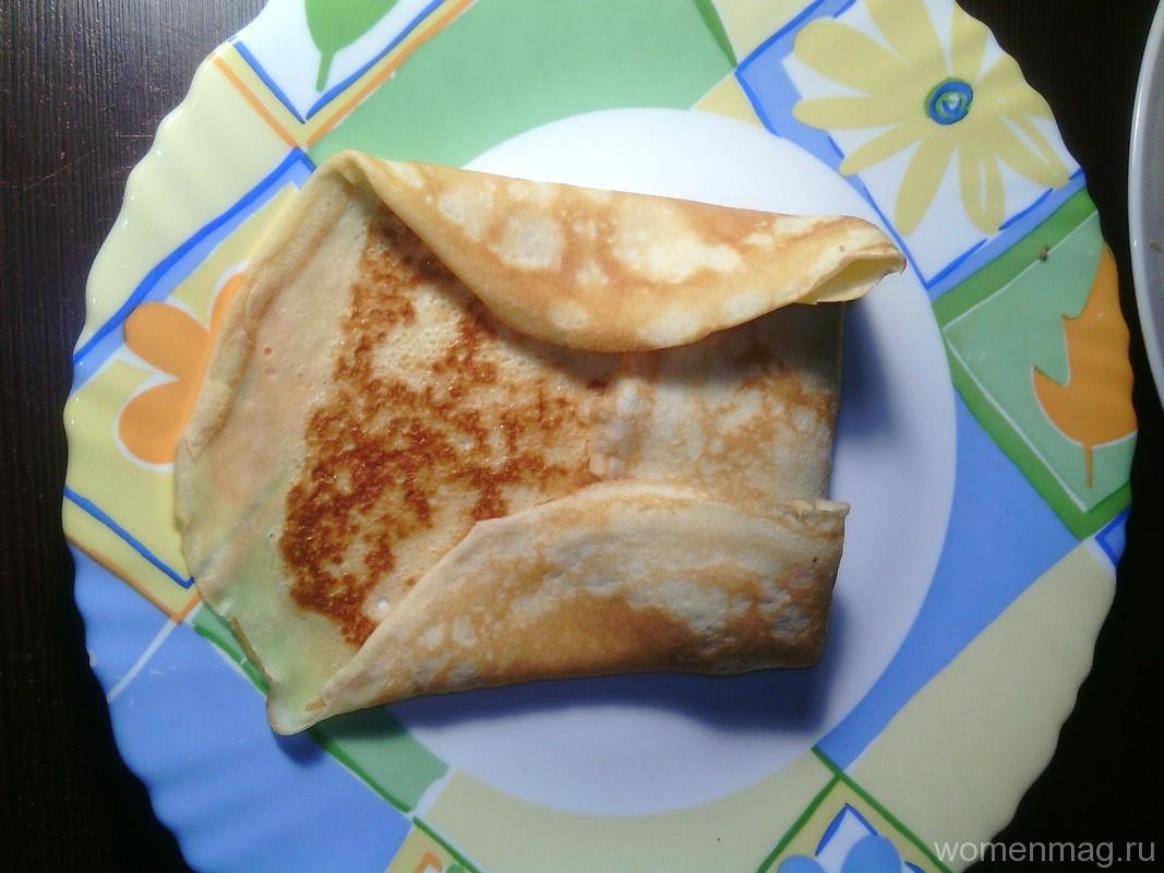 Тесто на блины в дырочку на молоке с фото