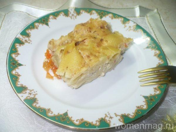 Овощная лазанья из макарон с цветной капустой