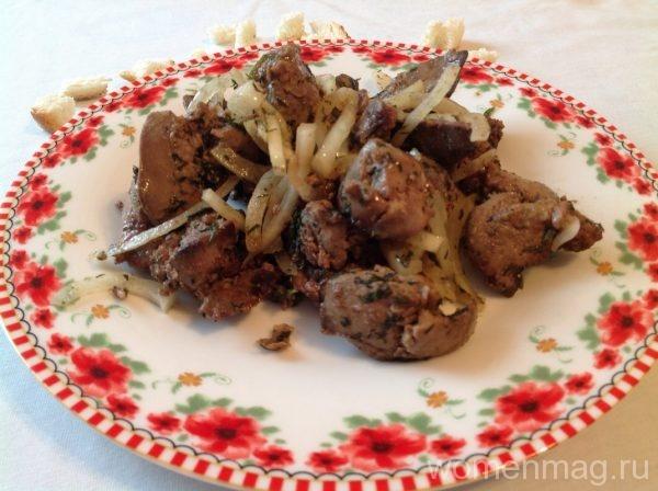 Жареная печень с луком по-абхазски