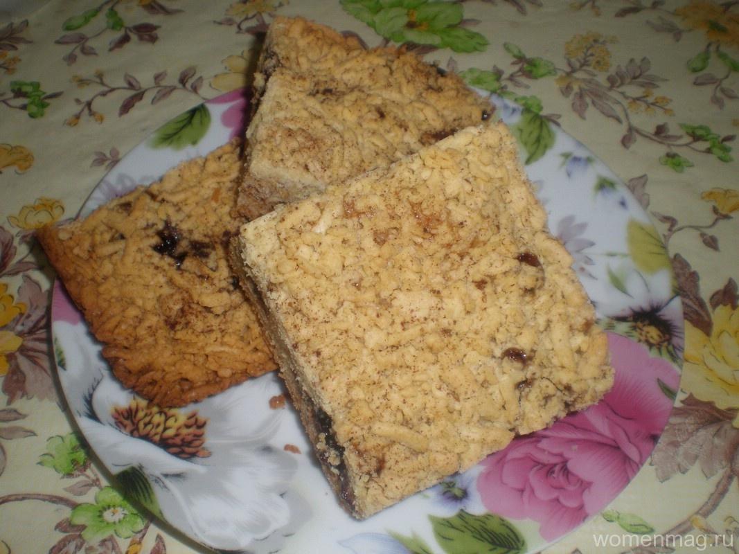 Тертый пирог с вареньем на маргарине