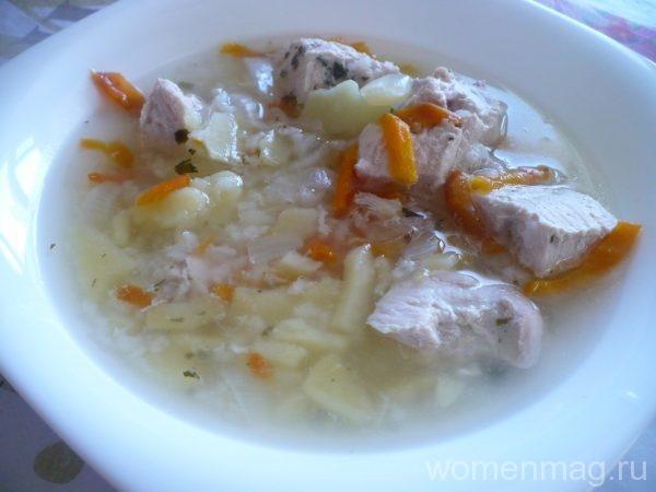 Суп с индейкой и рисом в мультиварке