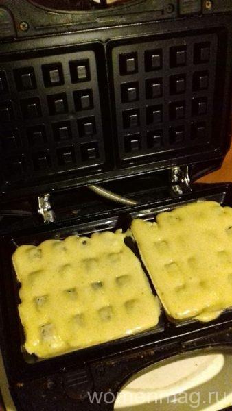 Постные венские вафли с корицей