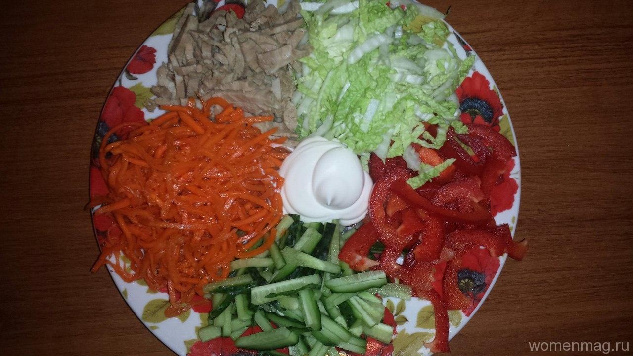 Салат «Козел в огороде» с мясом