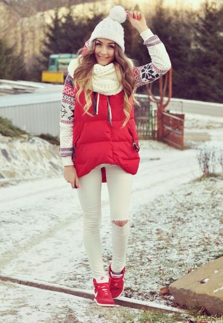 сникерсы красные с чем носить фото