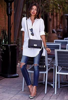 d6efea5f1d7 Как носить белую рубашку женщине