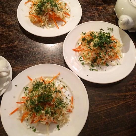 Рецепт салата из капусты и моркови с уксусом и