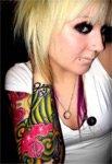 Красочные дизайны тату в стиле син