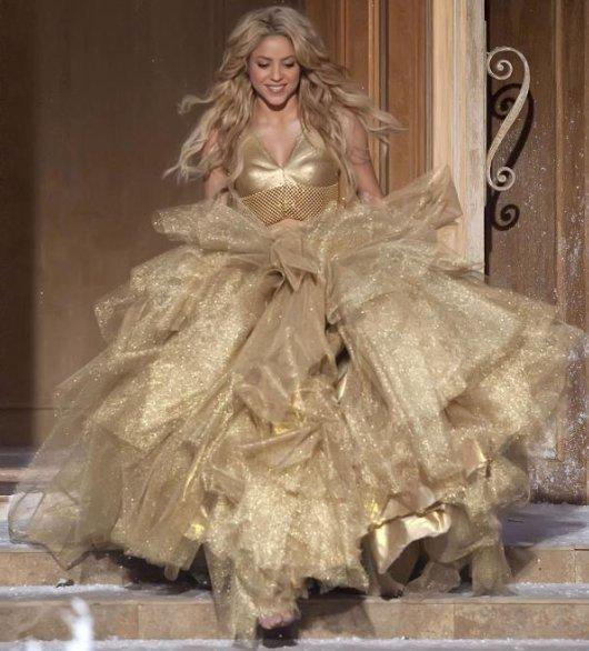 Шакира в рождественской рекламе шампанского Freixenet