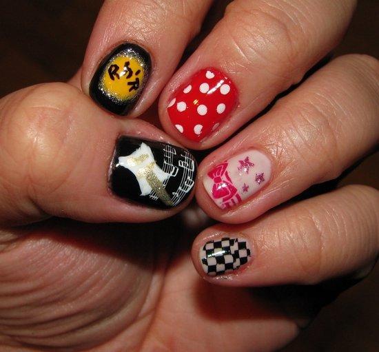 Фото маникюр карты на ногтях