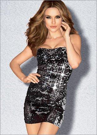 Сексуальные блестящие платья для новогодних вечеринок