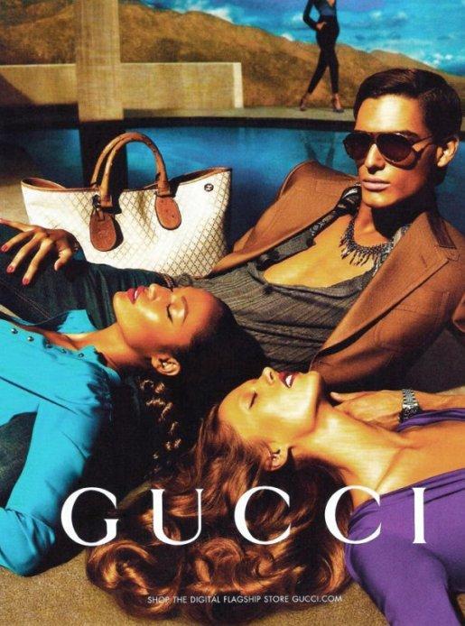 Рекламная кампания Gucci весна 2011: первый взгляд