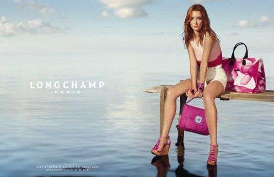 Весна-лето 2011: Одри Марней в рекламной кампании Longchamp