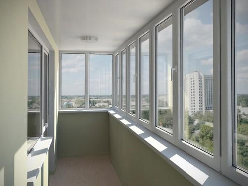 Остекление окон балконов